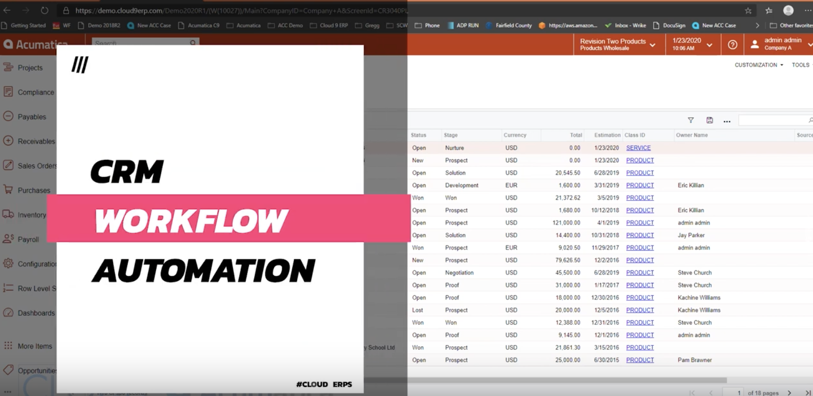 Acumatica-2020-R1-CRM-Workflow-Automation