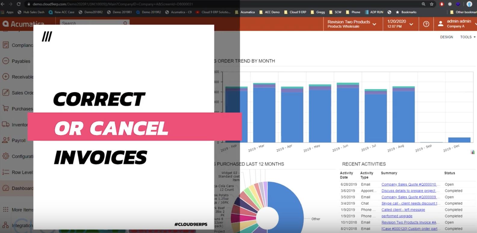 Acumatica-2020-R1-Cancel-and-Correct-Invoices