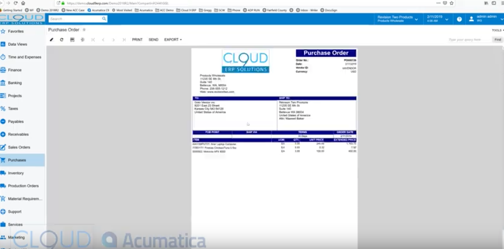 Acumatica-How-to-Create-a-Purchase-Order
