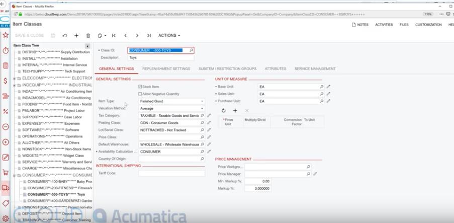 Acumatica-Inventory-Item