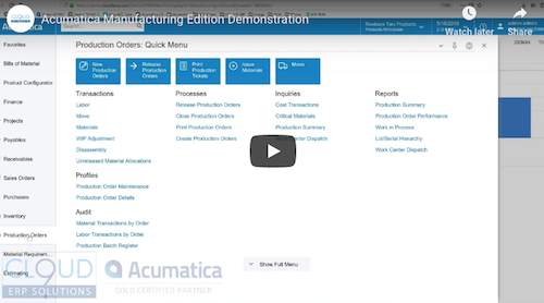 Acumatica-Manufacturing-Edition-Demo-1
