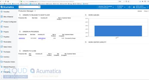 Acumatica-Manufacturing-Edition-Demo